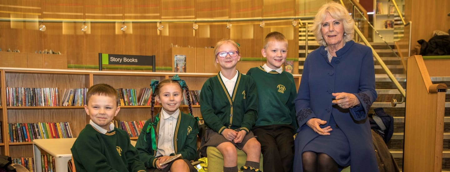 A royal visit for Liverpool reading helpers and children in celebration of Story Starters