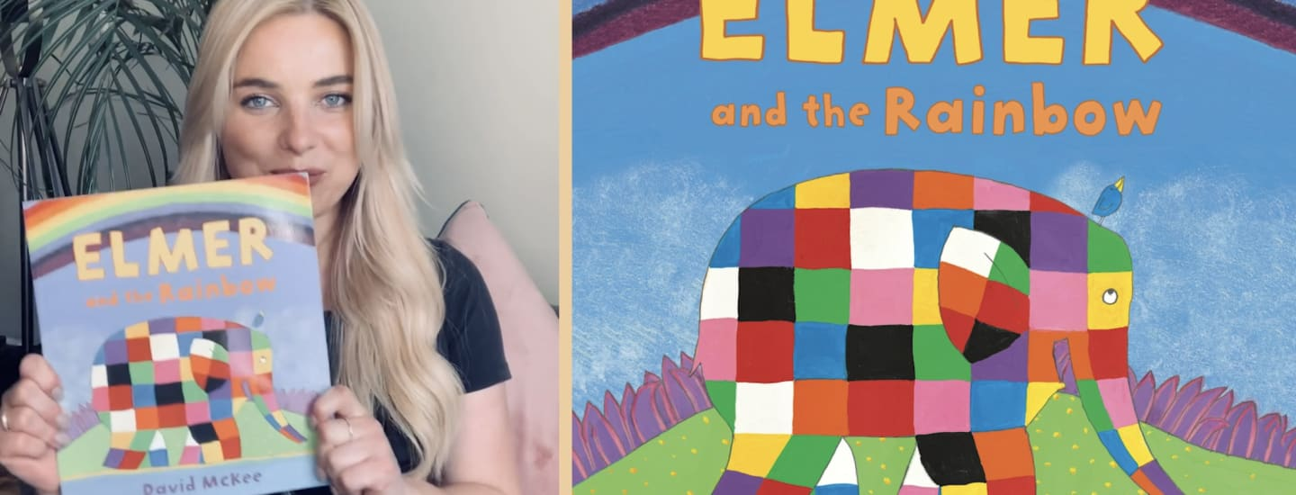 Sian Welby reads 'Elmer and the rainbow'