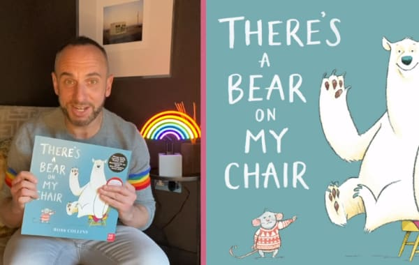 Mark Heyes reads 'There's a bear on my chair'