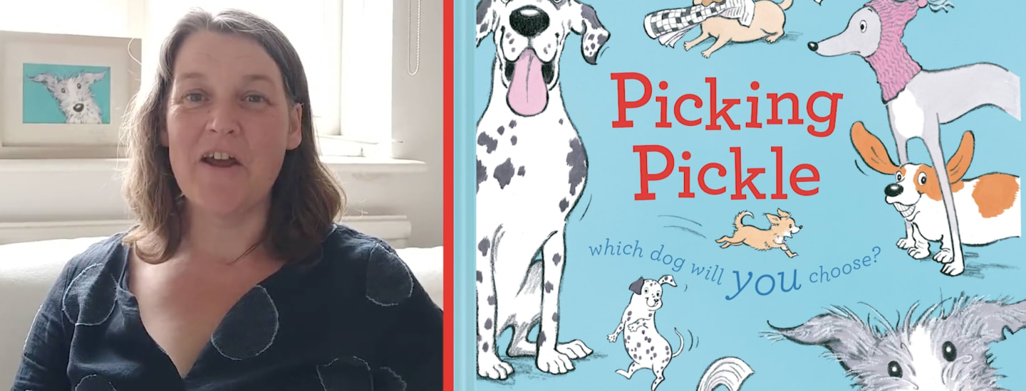 Polly Faber, author and reading helper at Belmont Junior School reads her own book 'Picking Pickle'