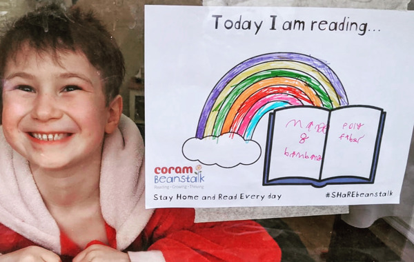 Stay Home And Read Every Day poster to colour-in!