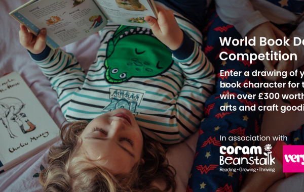 Coram  Beanstalk and Very.co.uk World Book Day competition to win bundles of arts & crafts materials from Crayola!